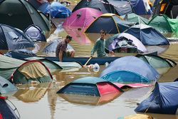 Glastonbury in the Rain 2