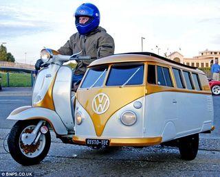 VW Campervan Sidecar